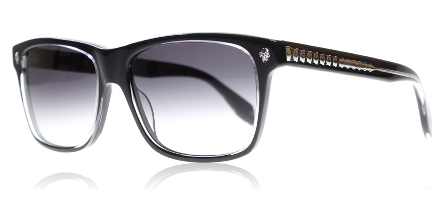 Image of   Alexander McQueen AM0025S Solbriller Sort Grå 001 57mm