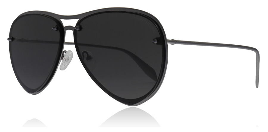 Image of   Alexander McQueen AM0102S Solbriller Ruthenium 001 63mm