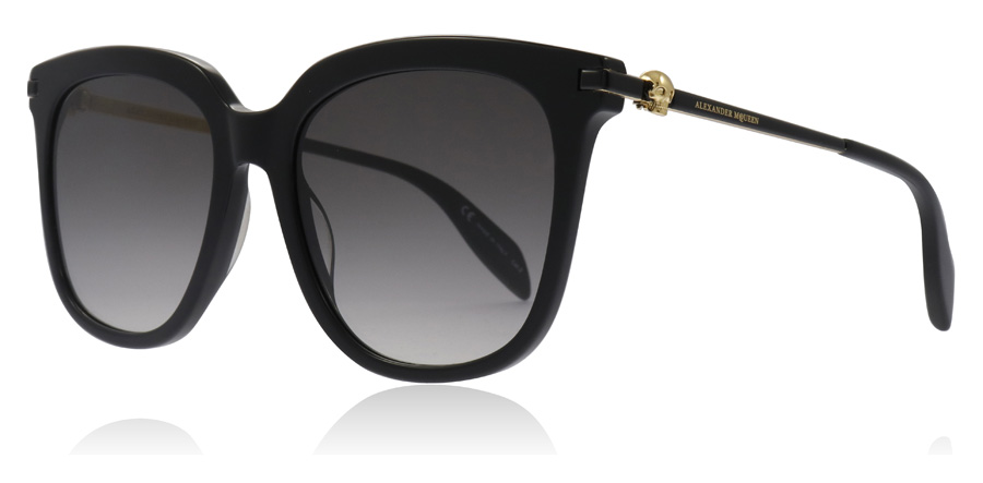 Image of   Alexander McQueen AM0107S Solbriller Sort 001 55mm
