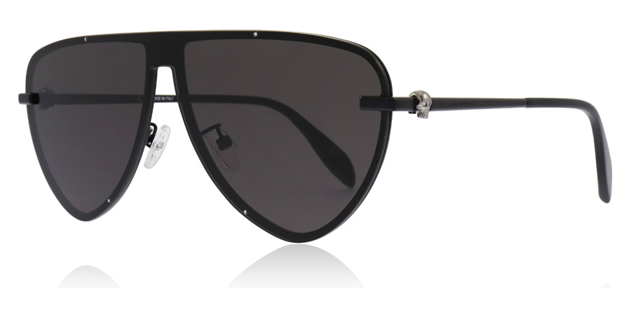 Image of   Alexander McQueen AM0157SA Solbriller Sort / Grå 001 99mm