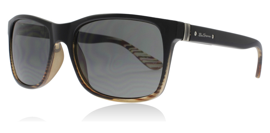 Image of   Ben Sherman Alec Solbriller Stribet Brun BLK 60mm