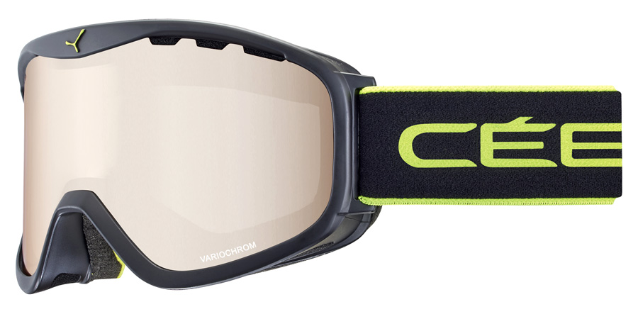 Cebe Ridge OTG CBG200 Mat Sort / Lime Matte Black 95mm