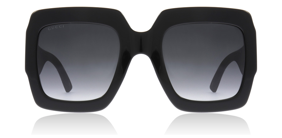 Gucci GG0102S Sort / Grå 001 54mm
