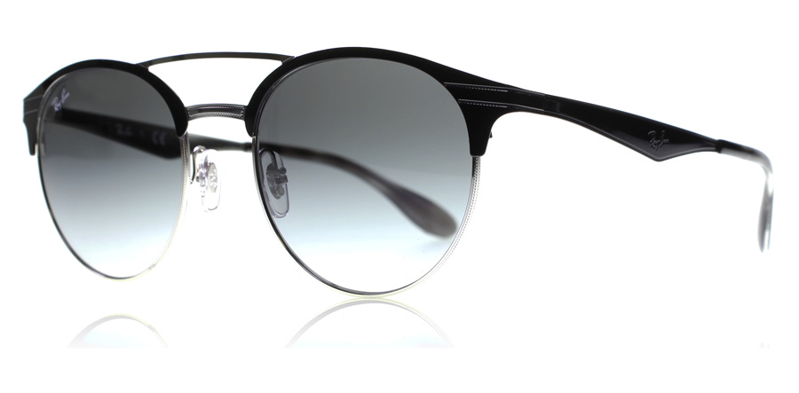 ray-ban-3545-solbriller-top-sort-paa-solv-900411-51mm