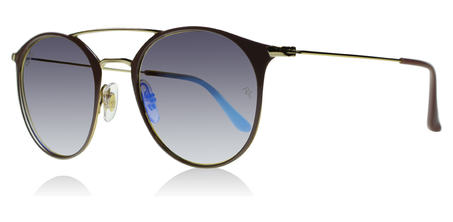 ray-ban-3546-solbriller-guld-top-beige-90118b-49mm