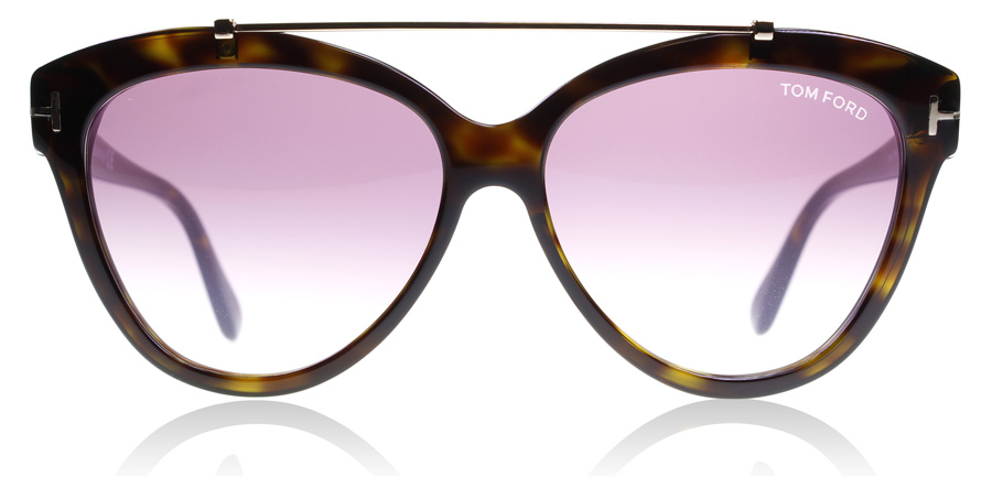 Tom Ford Livia FT0518 Blank Mørk Havana 52Z 58mm