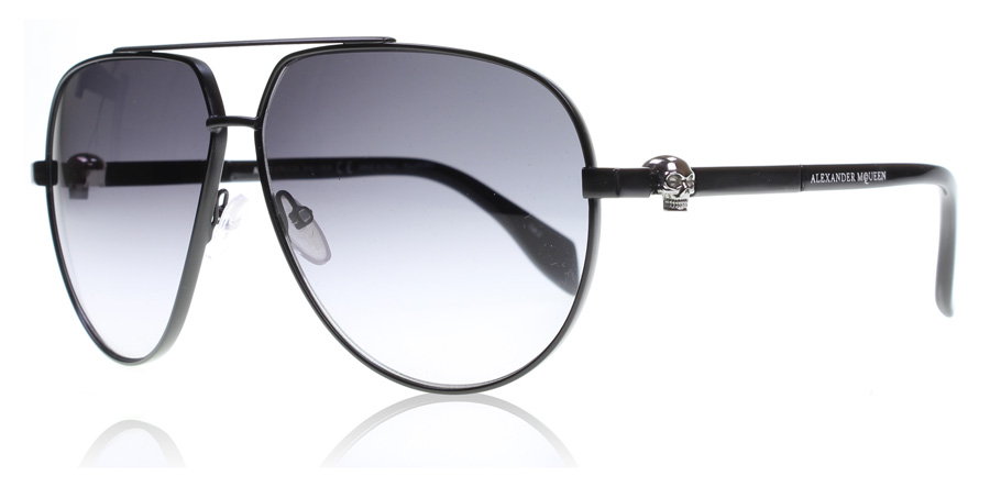 Image of   Alexander McQueen AM0018S Solbriller Sort 001 Polariseret 63mm