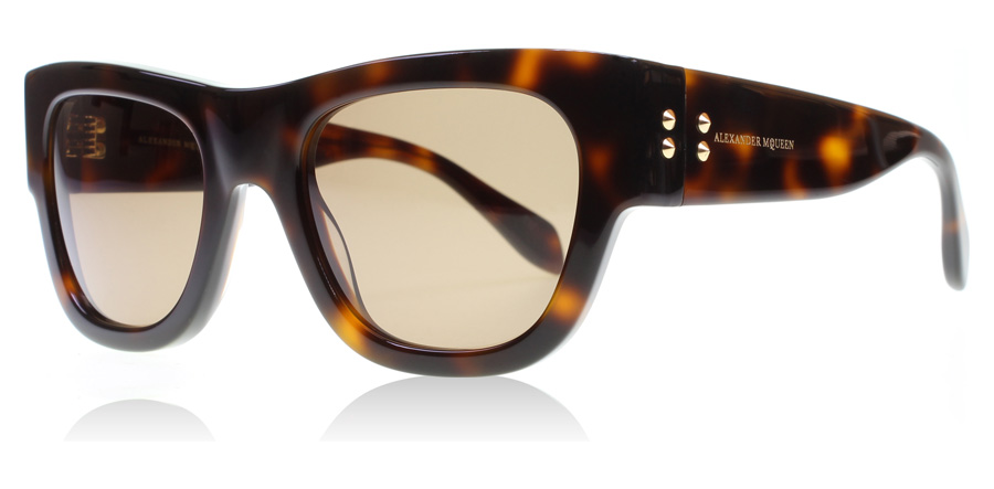 Image of   Alexander McQueen AM0033S Solbriller Havana AM0033S 51mm