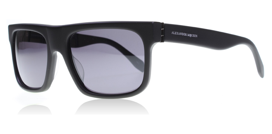 Image of   Alexander McQueen AM0037S Solbriller Sort 001 56mm