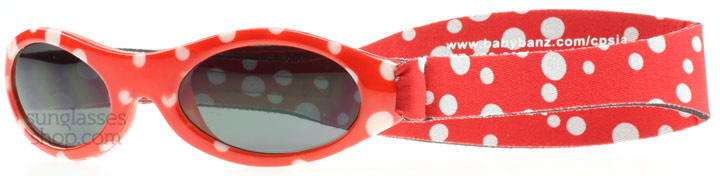 Image of   Baby Banz Adventure 0-2 Years Solbriller Rød Prikket Adventure 0-2 Years 45mm