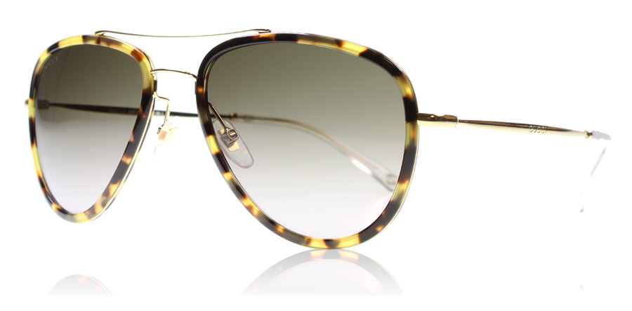 gucci-2245ns-solbriller-gold-havana-h81ha-57mm