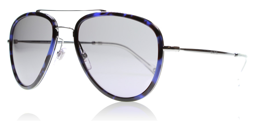 gucci-2245ns-solbriller-blaa-havana-ruthenium-h80-57mm