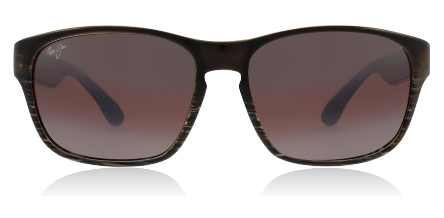 Maui Jim Mixed Plate R721-01 Chocolate Striped Fade STG-BG 58mm Polariseret