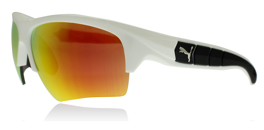 Image of   Puma 0056S Solbriller Hvid Orange 004 66mm
