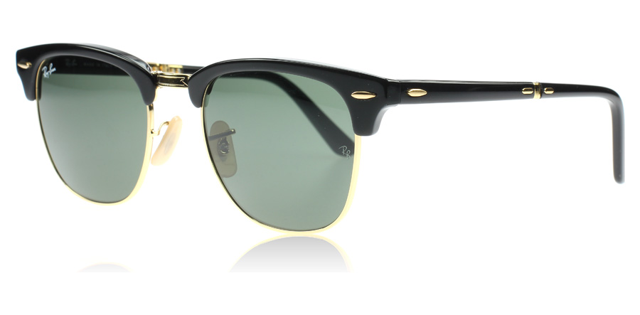 ray-ban-2176-clubmaster-folding-solbriller-sort-901