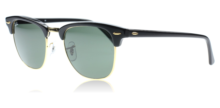 ray-ban-3016-clubmaster-solbriller-sort-w0365-large-51mm