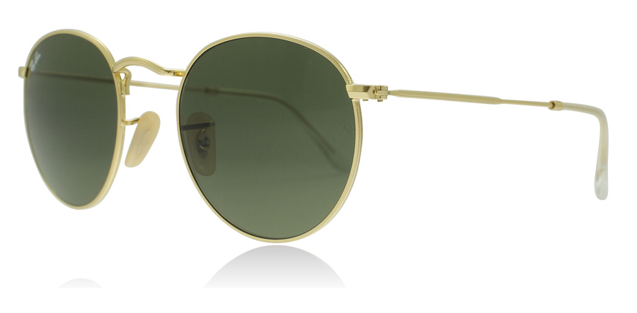ray-ban-rb3447-solbriller-guld-001-50mm