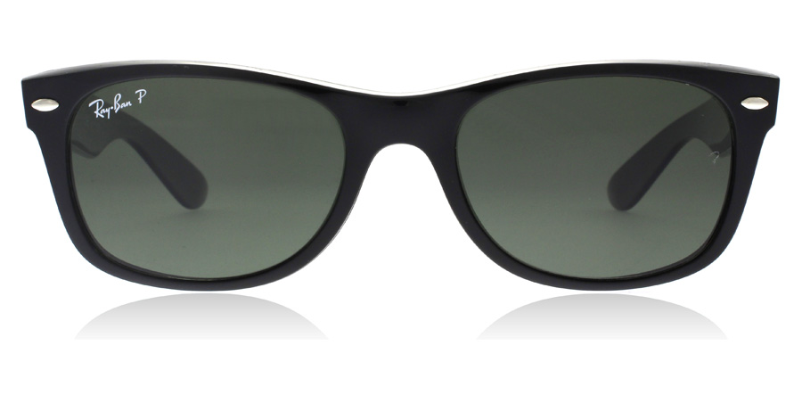Ray-Ban RB2132 New Wayfarer Sort 901/58 52mm Polariseret