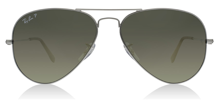 Ray-Ban Aviator RB3025 Sølv 003/59 58mm Polariseret