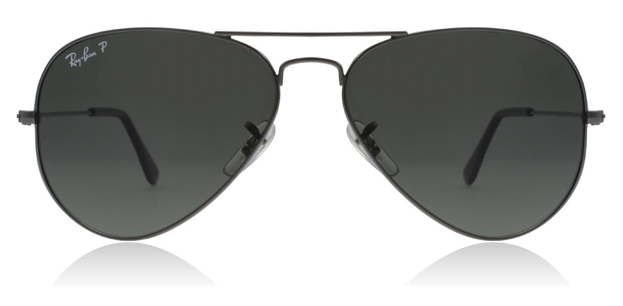 Ray-Ban Aviator RB3025 Stålfarvet 004/58 58mm Polariseret
