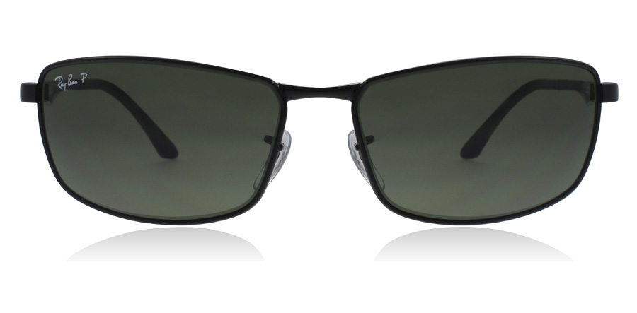 Ray-Ban RB3498 Sort 002/9A 61mm Polariseret