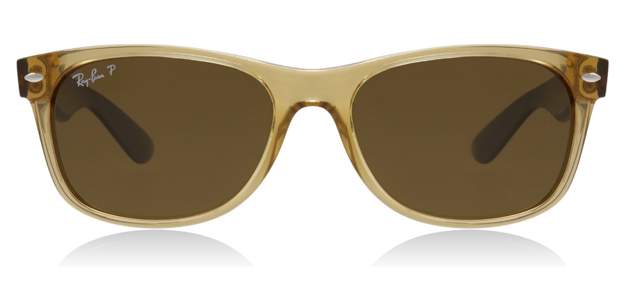 Ray-Ban RB2132 New Wayfarer Klar Guld Sort 945/57 55mm Polariseret