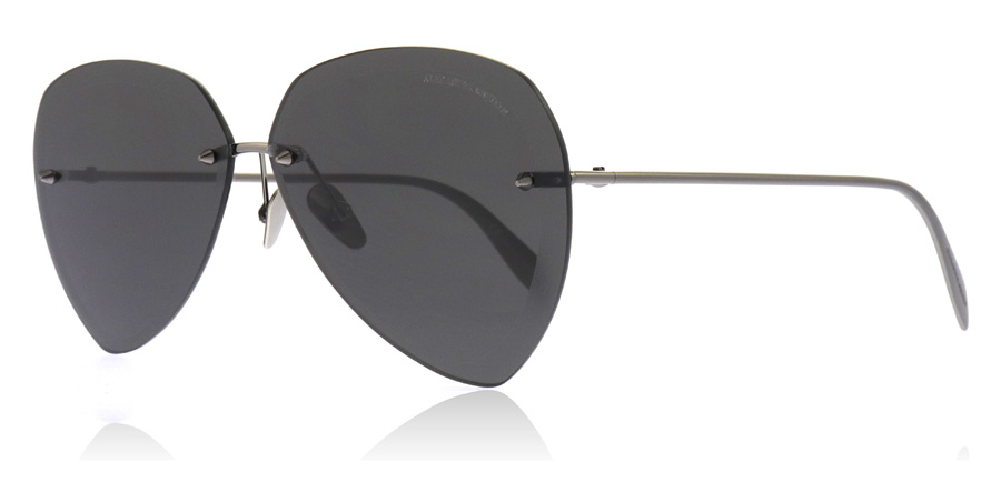 Image of   Alexander McQueen AM0120SA Solbriller Ruthenium 001 64mm