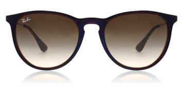 Ray-Ban Erika Transparent Brun/Blå